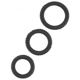Lust 3 Black 3-Pack Penisringar Set