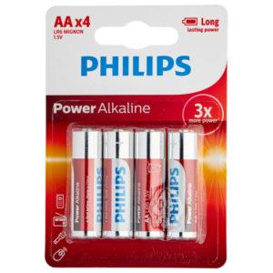 Philips LR06 AA Alkaline Batterier 4 st
