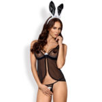 Obsessive Black Bunny Kostym