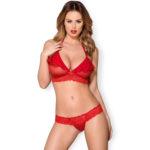 Obsessive Valentine BH-set Röd